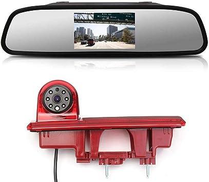 HD 720p Camara Marcha Atras Coche C/ámara de Visi/ón Trasera inversa de luz de Freno Visi/ón Nocturna para Renault Trafic Opel Combo Vauxhall Vivaro Nissan Primastar FIAT Talento 2001-2014
