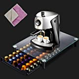 Masthome Nespresso Capsule Holder 60PCS Pod Storage Drawer & Coffee Machine Stand-with Extra 1PC Cleaning Cloth