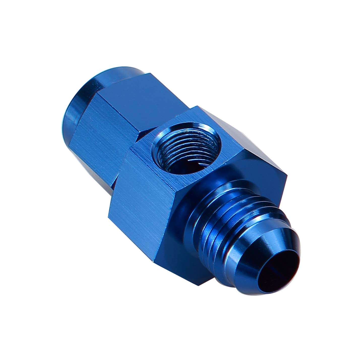 Blue Aluminum 45 Degree Elbow One Piece Full Flow Forged 6 AN AN6 Male Flare Coupling Pipe Union Equal Fittings