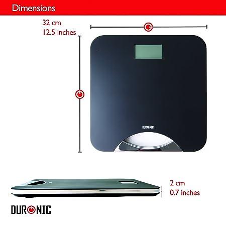 Duronic BS801 Báscula de Baño Digital de Alta Precisión Panatlla LCD Peso Corporal hasta 180 kg Cristal Templado: Amazon.es: Salud y cuidado personal