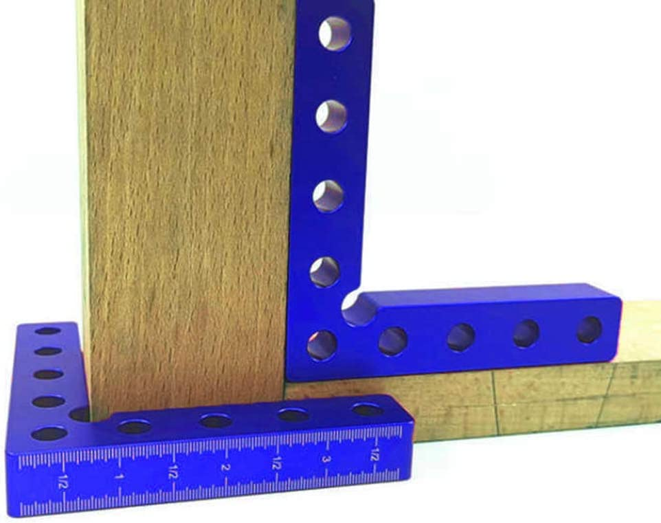 Boxes Right Angle Clamps Woodworking Carpenter Corner Clamping Square Tool for Picture Frames Blue Imperial Cabinets or Drawers ZUZZEE 4 Inch 90 Degree Positioning Squares