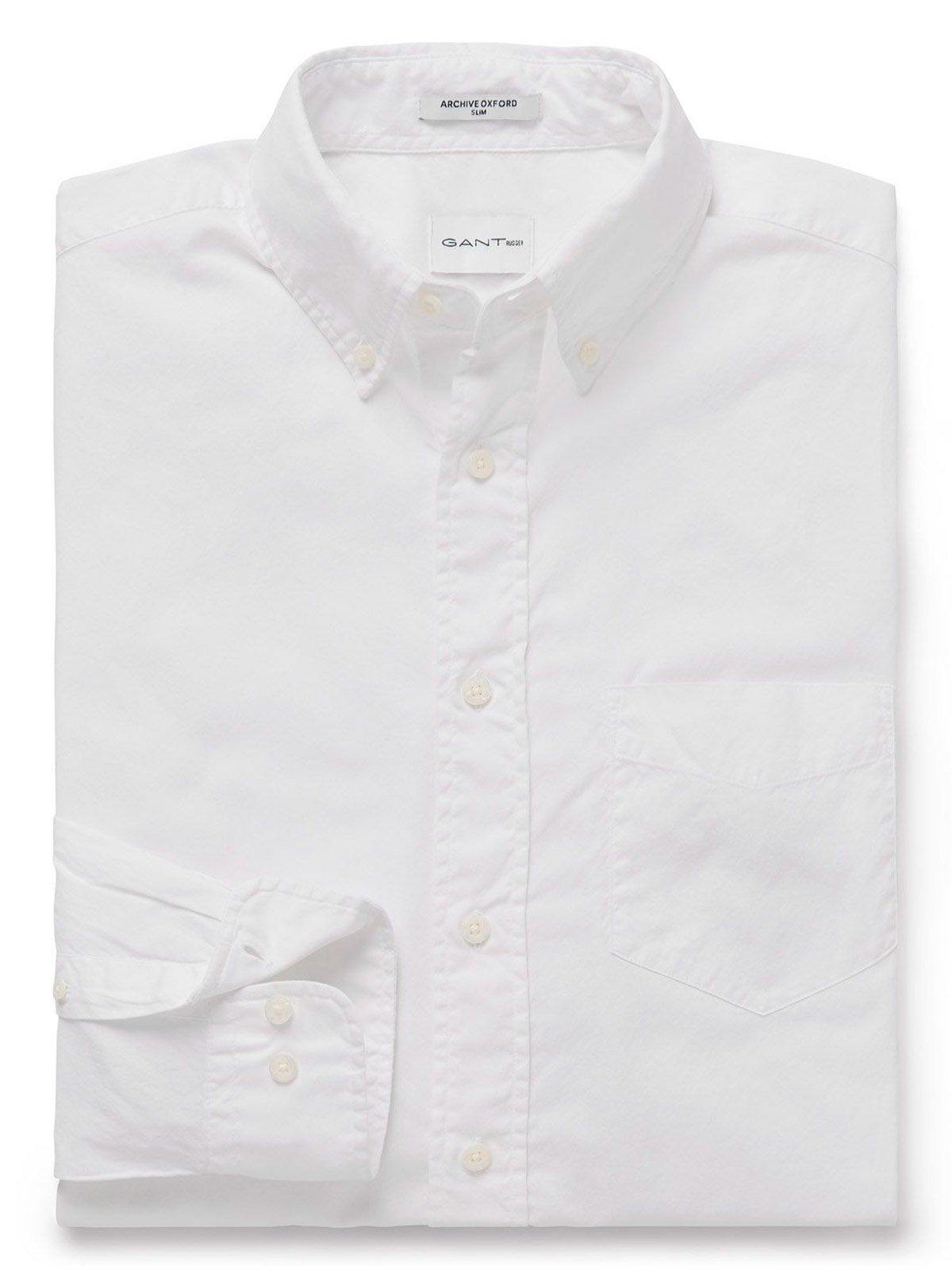 GANT Men's 18013082632110 White Cotton Shirt by GANT (Image #1)