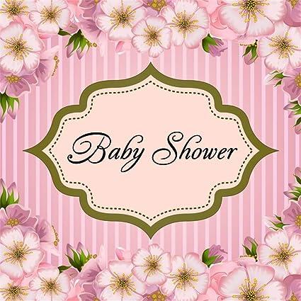 Amazon Com Laeacco 5x5ft Pastel Girl Baby Shower Backdrop Vinyl