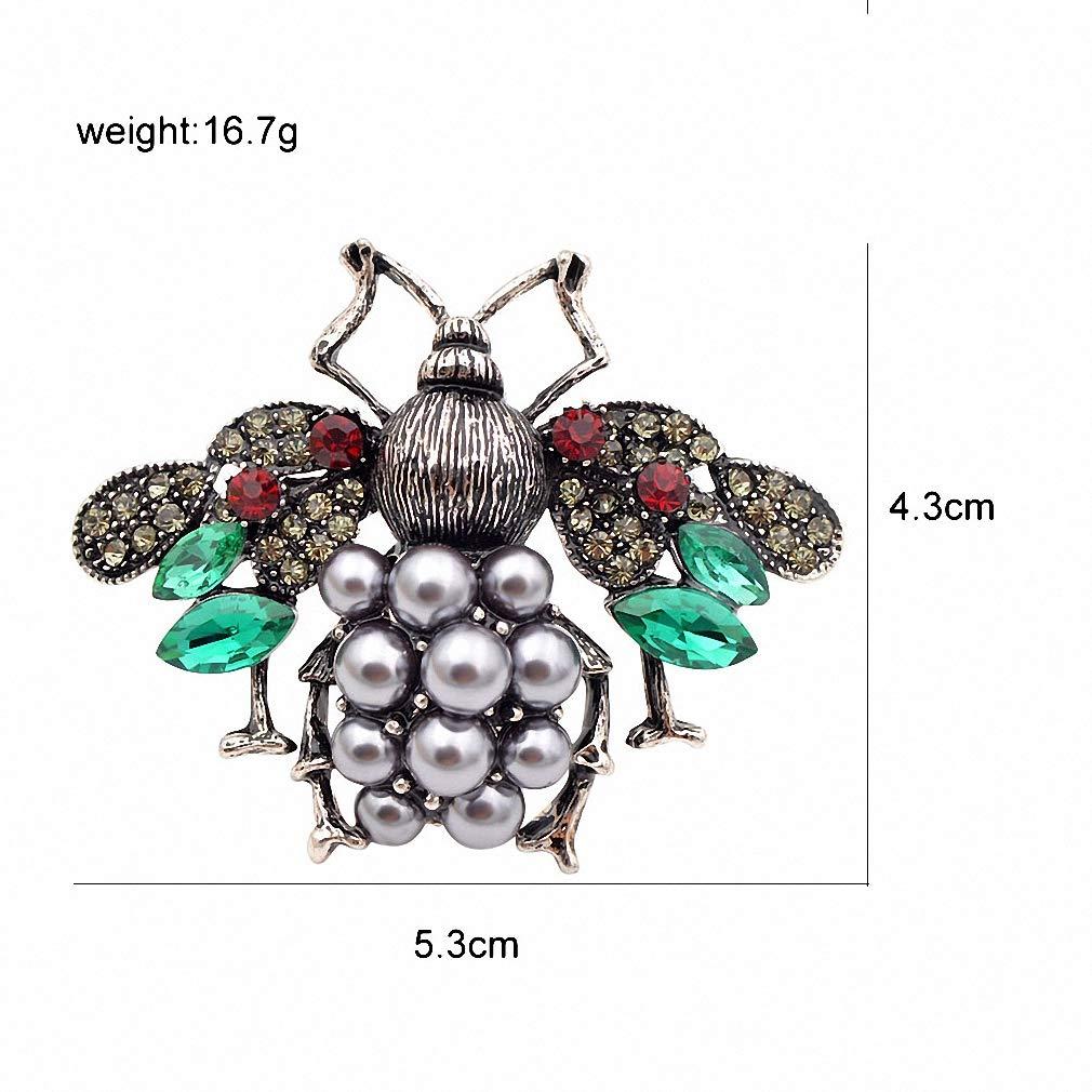 Jana Winkle 3 Colors Choose Pearl Rhinestone Big Bee Brooches Women Insect Pin Gift Coffee by Jana Winkle (Image #3)