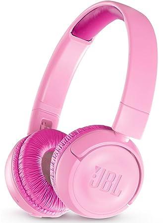 JBL JR300BT - Auriculares supraaurales con Bluetooth para niños, Color Rosa