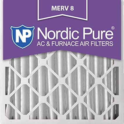 nordic pure 20x20x4m8-1 merv 8 pleated ac furnace air filter ...