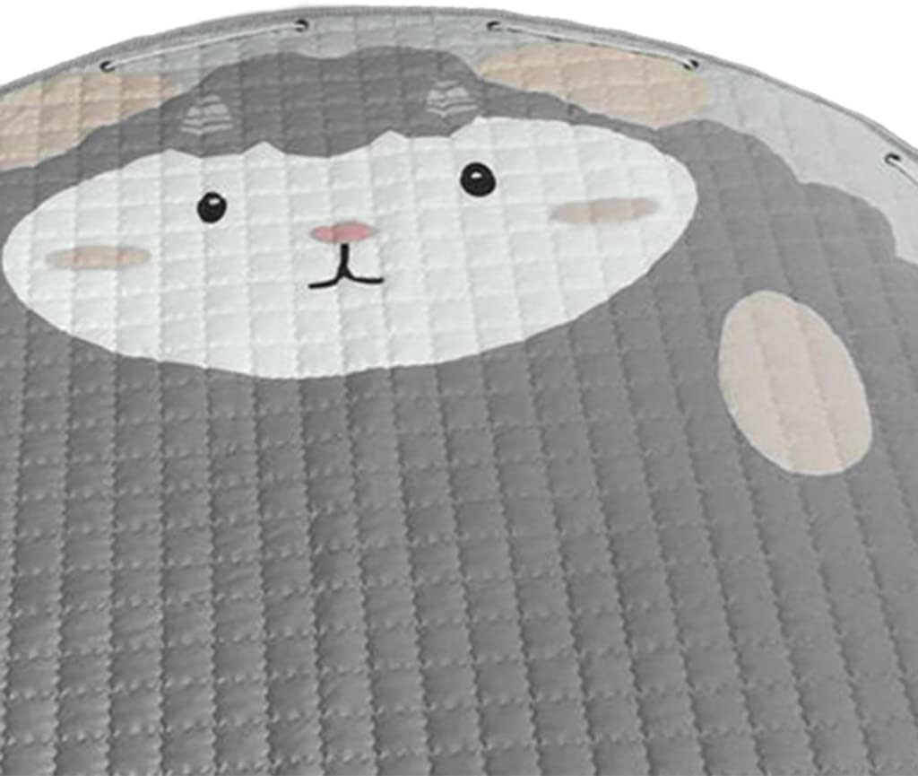Toy Storage Bags Playmat Picnic Mat Cars in City Round Foldable Reversible 60inches 150cm or 60inch B Blesiya Kids Game Toy Play Mat Crawling Floor Mat Rugs Cute Baby Carpet Blanket