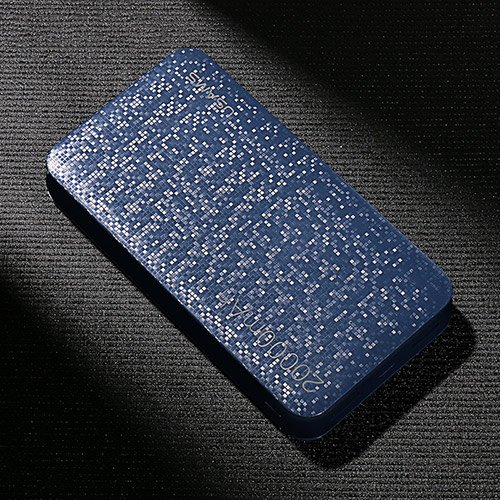 Price comparison product image USAMS 20000mAh Power Bank - Two USB ports (Blue)