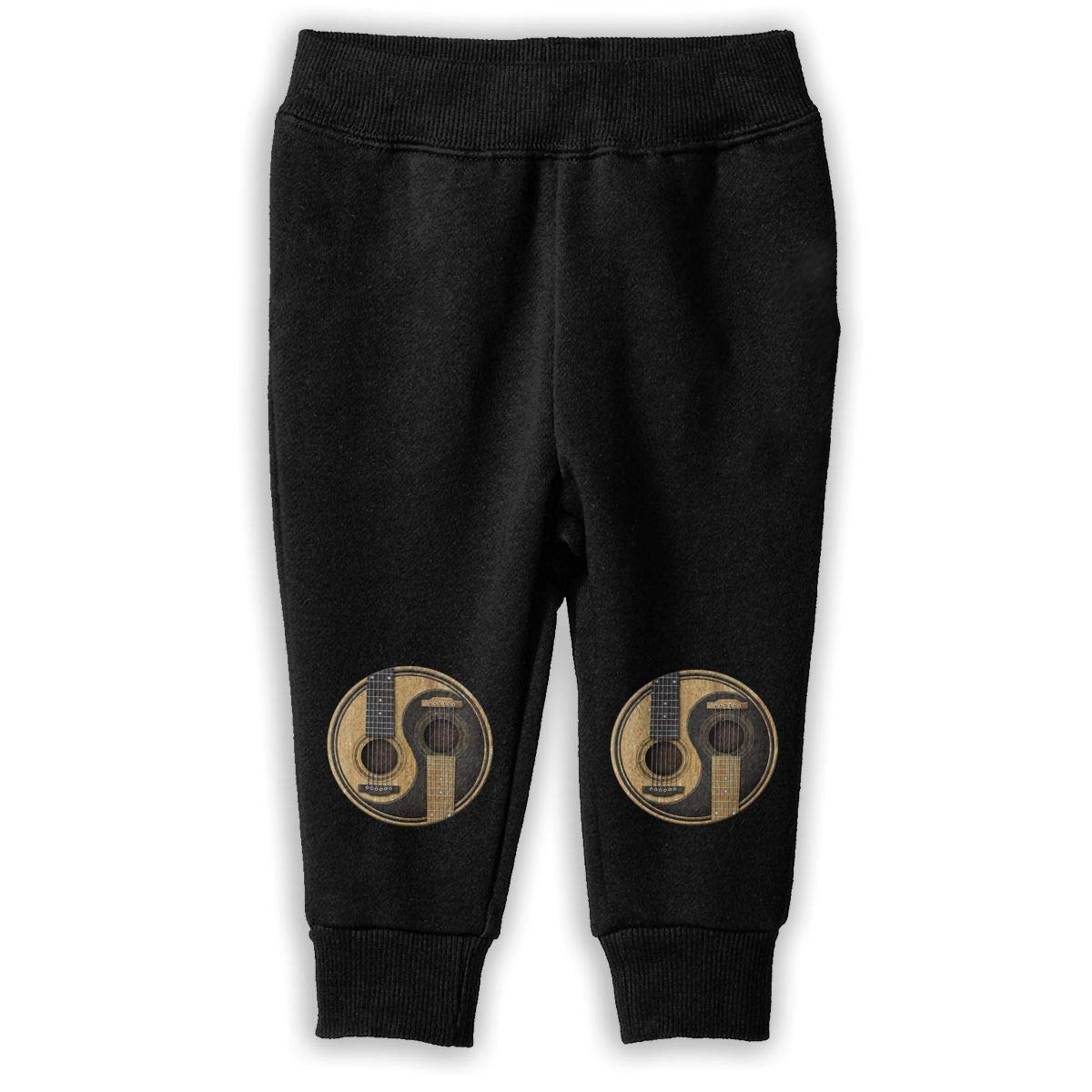 Printed Old and Worn Acoustic Guitars Yin Yang Childrens Boys /& Girls Unisex Sports Sweatpants