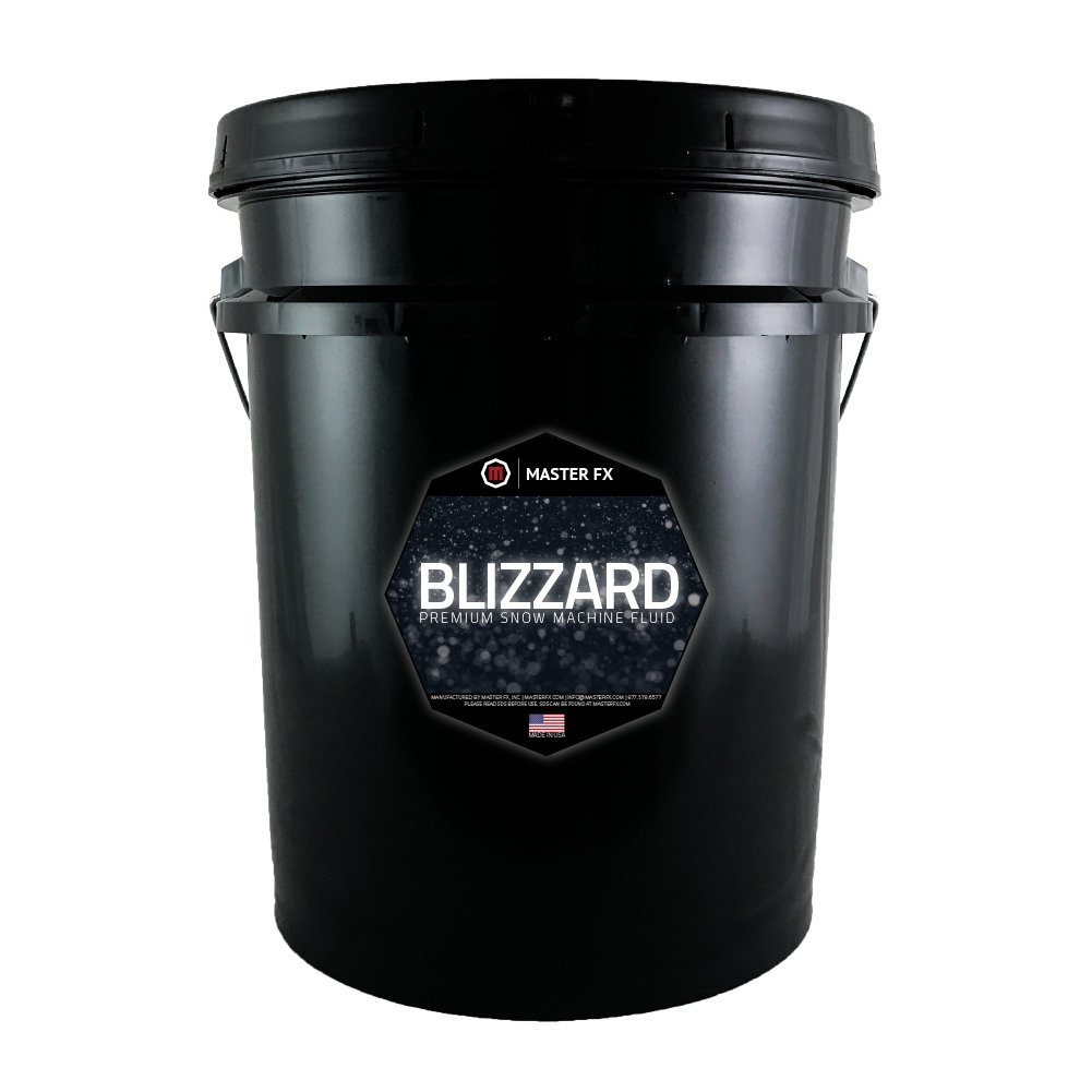 Blizzard - Evaporating Snow Machine Fluid - Creates Dry Flakes - Non Toxic - (5 Gallon Pail) Master FX Inc.
