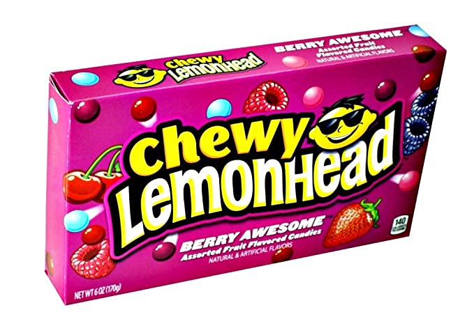 cbb0b1f2819a1 Ferrara Candy Company Chewy Berry Lemonhead Movie Theater Size Candy ...