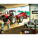 Case IH Tractor and Combine Cotton Fabric Panel, ...