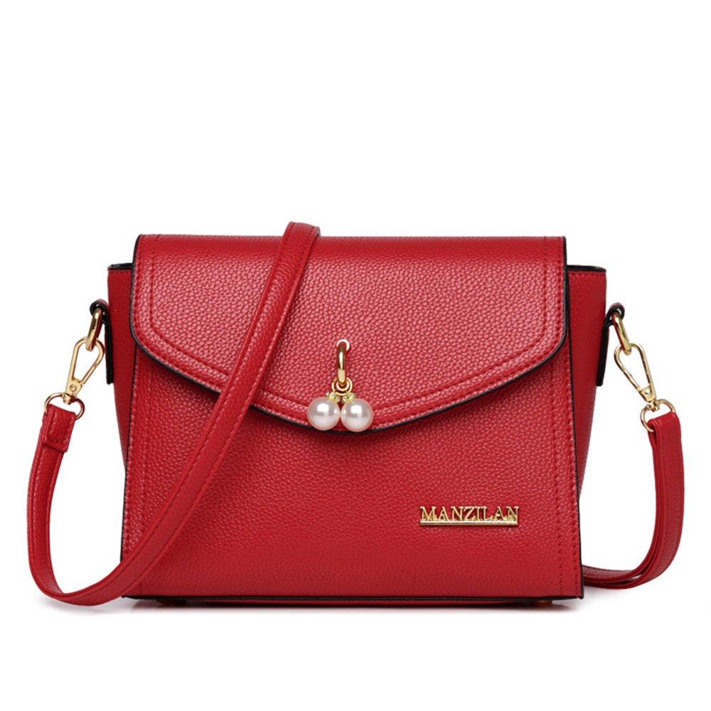 Satchel Bag Women'S Single Shoulder Bag Summer Bag Small Bag,Gules,22X15X9Cm