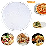 WHOSEE 10-Pack 14-Inch Seamless Aluminum Pizza Screen Baking Tray Metal Net Bakeware Kitchen Tool