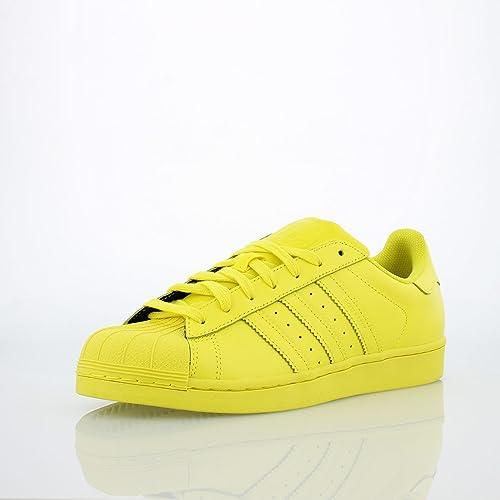llegando imágenes detalladas calidad estable Amazon.com | Adidas Kids Superstar Supercolor Yellow S31605 ...