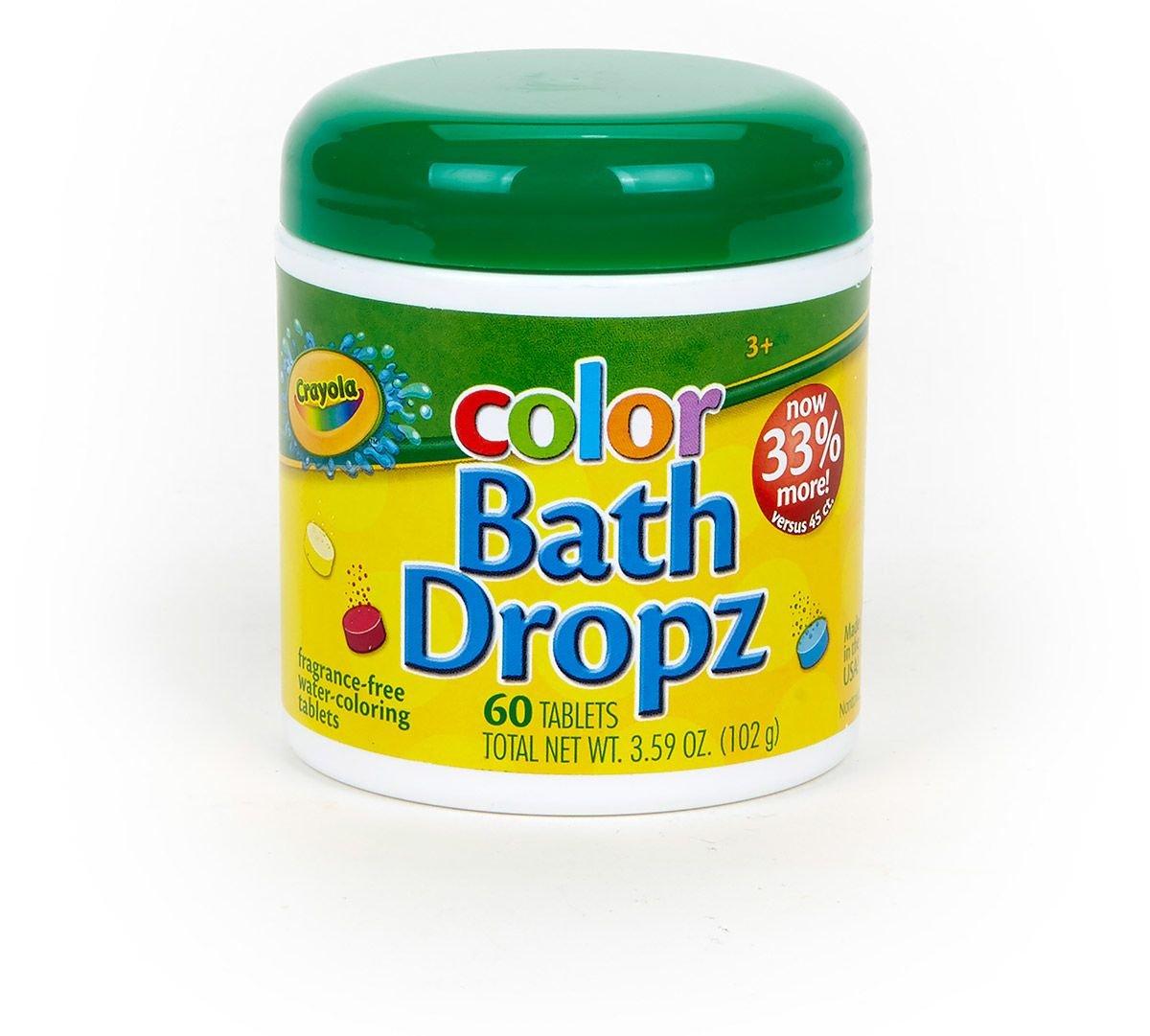 Crayola Color Bath Dropz 60 Tablets 3.59 Ounce Jar (3 Pack) B01AMT1GXI