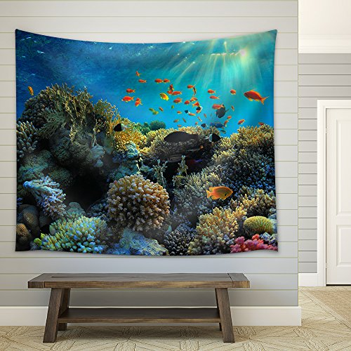 Beautiful View of Sea Life Fabric Wall Tapestry