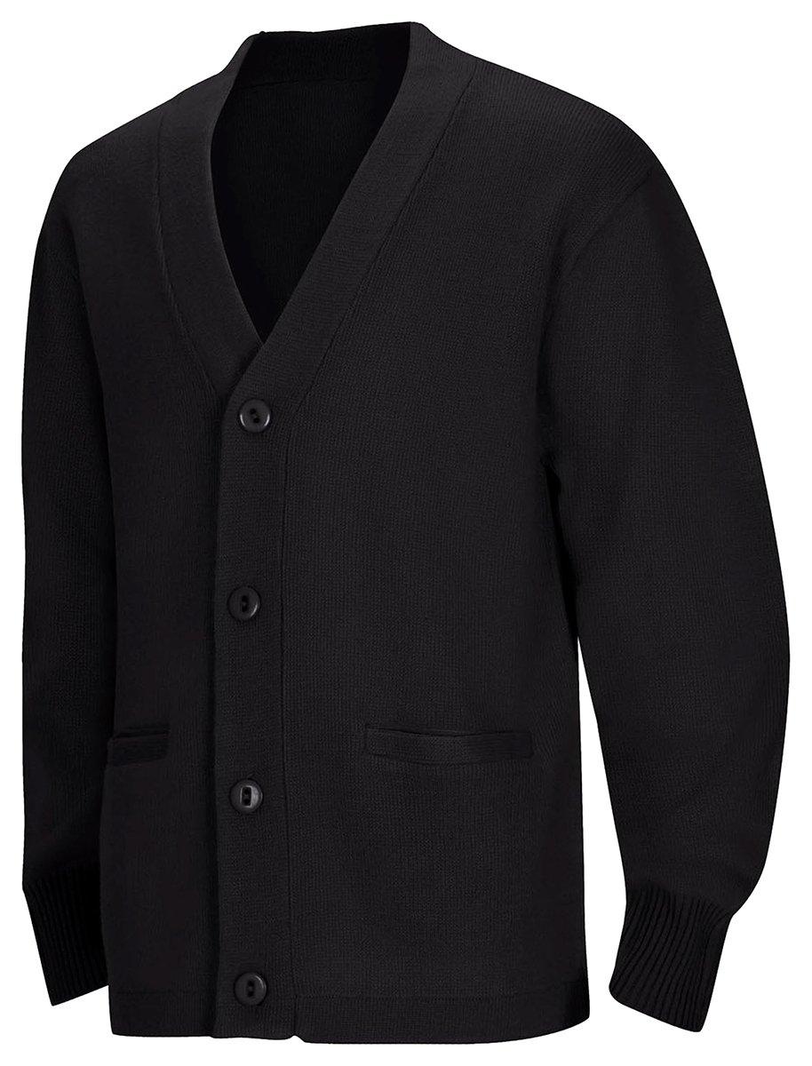 Classroom Men's Adult Unisex Cardigan Sweater, Black, Medium