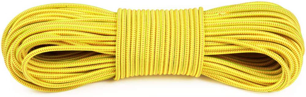 50 Atwood Rope MFG Polyester Shock Cord Bungee Cord Motorcycle Accessories Camping Essential Without Hooks 100 Feet 5//32 Inch 25 150lb Test
