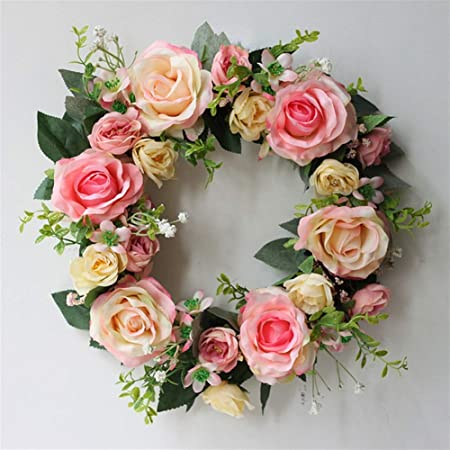 Künstliche Girlande Pfingstrose Blumen Tür Kranz Hochzeit Dekoration Hängend