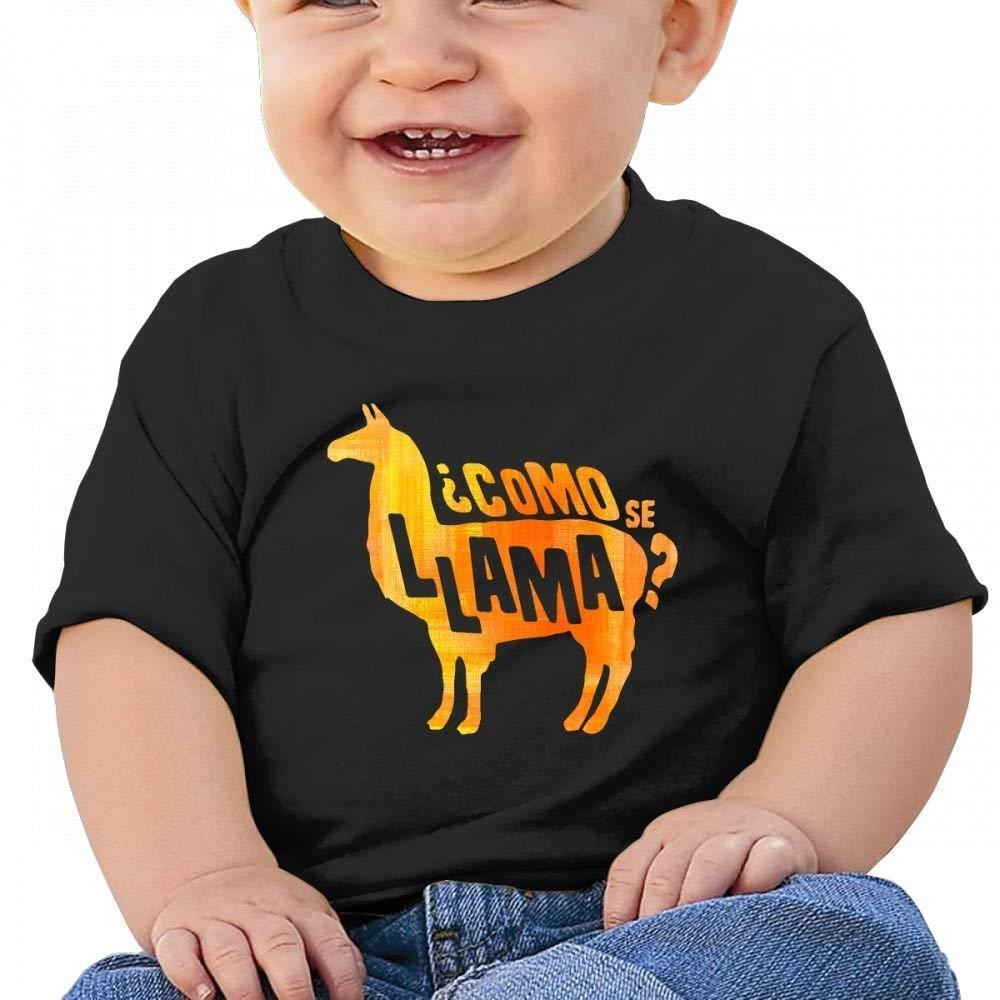 Como Se Llama Cute Baby Casual Round Neck Tee Shirts Short eeve T
