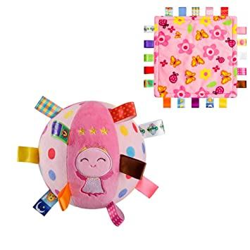 Baby taggie blanket Sensory toy. Taggy comforter
