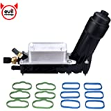 EVIL ENERGY Engine Oil Cooler and Filter Housing Adapter gaskets Sensor Kit Replace 5184294AE Compatible with 2011-2013…