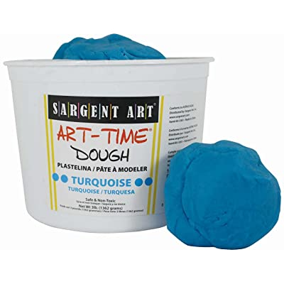 Sargent Art 85-3361 3-Pound Art-Time Dough, Turquoise: Arts, Crafts & Sewing