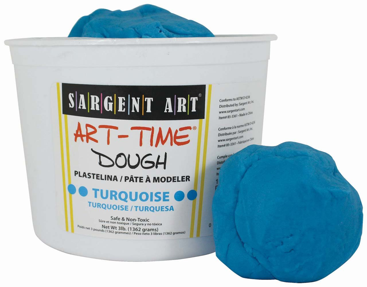 Sargent Art 85-3361 3-Pound Art-Time Dough, Turquoise