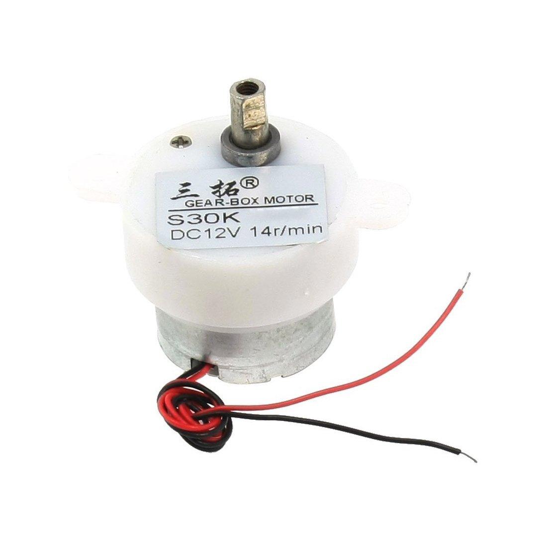 Generique 14 rpm 12v dc moteur reducteur electrique 2 fils boite de vitesses S30K moteur