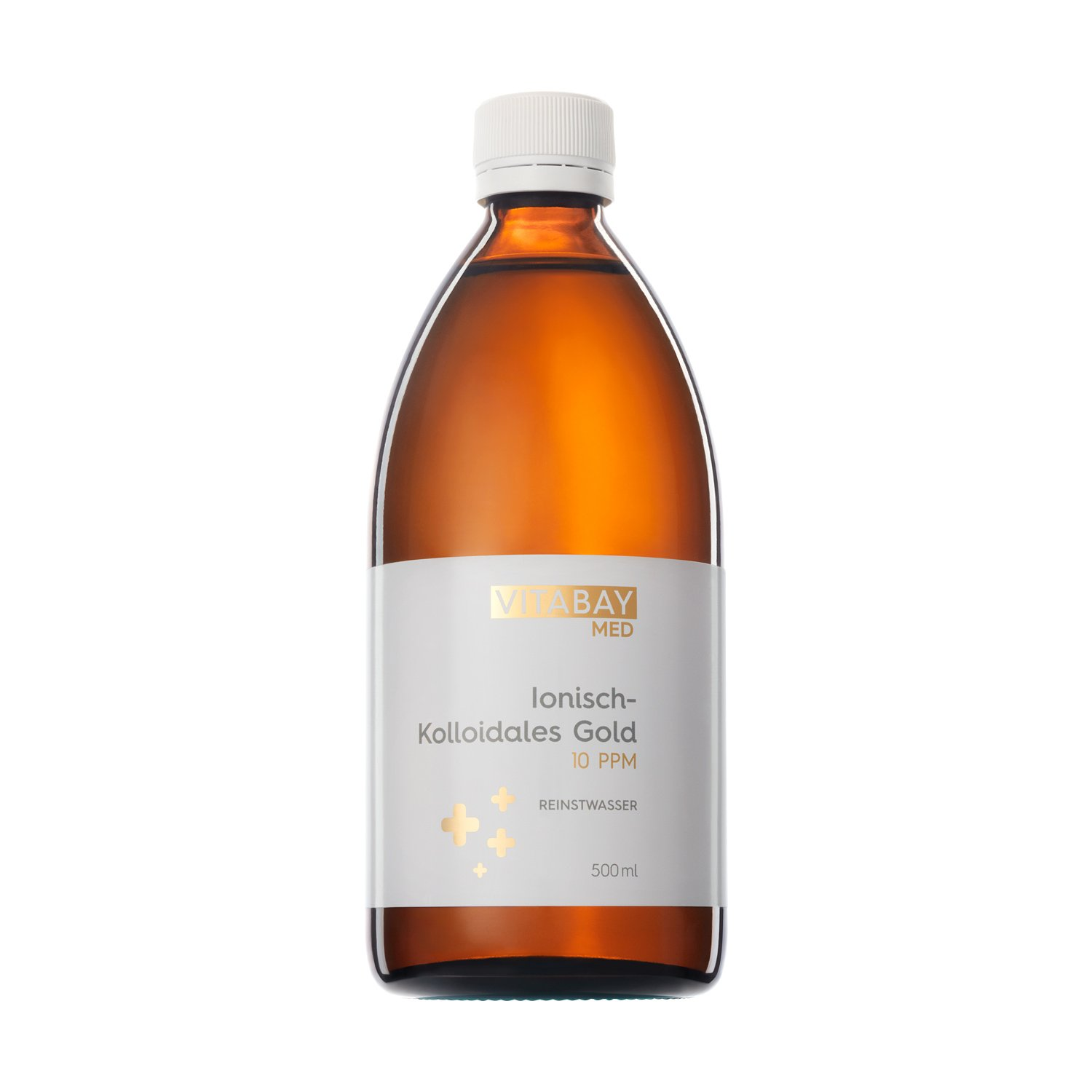 Coloidal Gold 10 PPM - altamente concentrado (nivel de pureza 99.99%) (500 ml): Amazon.es: Salud y cuidado personal