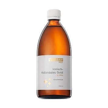 Coloidal Gold 10 PPM - altamente concentrado (nivel de pureza 99.99%) (500 ml): Amazon.es: Salud y cuidado personal