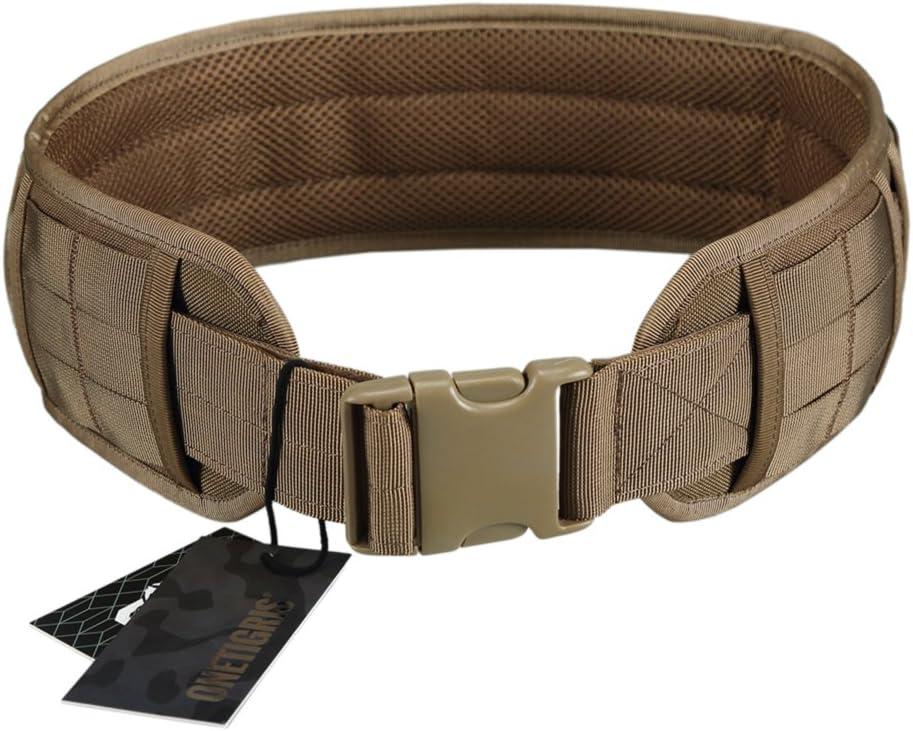 OneTigris Cinturón Molle Táctica Acolchada con Cintura de Protección Nylon 1000D para Combate, Uso al Aire Libre, para Airsoft y Paintball