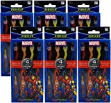 Dr. Fresh Marvel Heroes Suction Cup Toothbrushes Characters May Vary 4 ea (Pack of 6)