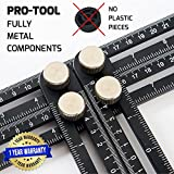 Tools & Hardware : ANY-ANGLE Multi-Angle Measuring Ruler: FULL-METAL Angle-izer Template Tool Made Of Premium Aluminum Alloy - Perfect For Handymen, Builders, Craftsmen, Carpenters, Roofers, Tilers, DIY-ers & GREAT GIFT