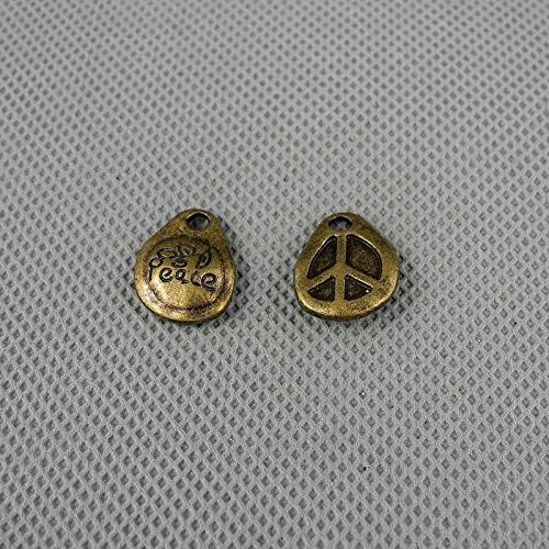 Tone Peace Sign - 280 PCS Jewelry Making Charms Findings Supply Supplies Crafting Lots Bulk Wholesale Antique Bronze Tone Plated 10012 Peace Anti War Signs Drop