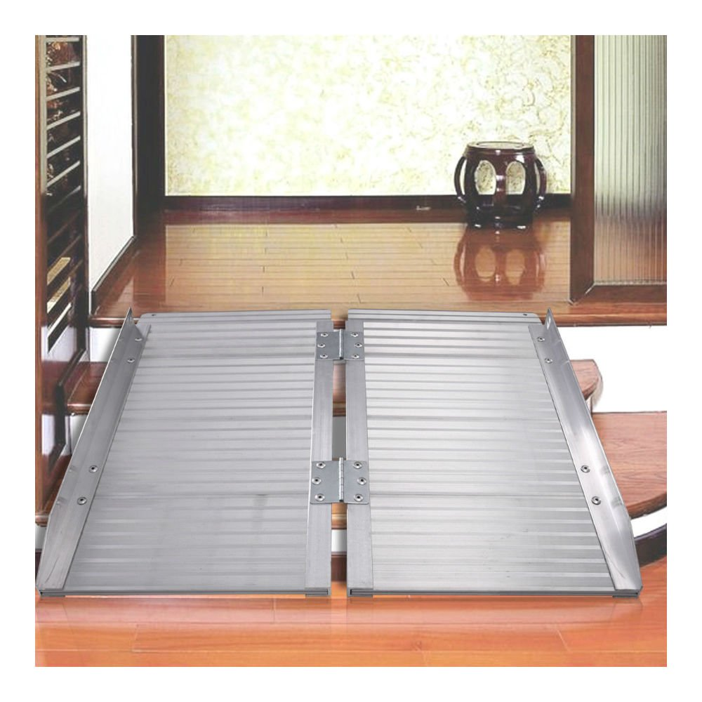 3' Aluminum Fold Portable Wheelchair Ramp Mobility Handicap Suitcase Threshol