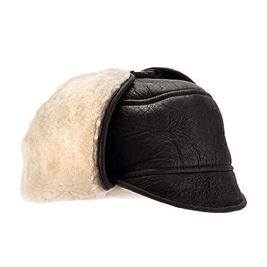 b496d1f9bde Eastern Counties Leather Mens Harrison Aviator Sheepskin Hat (L) (Dark Brown  Forest)