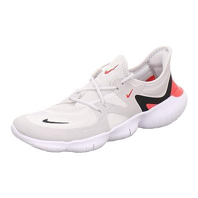 sale retailer 39559 e55e7 Nike Men s Free RN 5.0 Vast Grey Black White Bright Crimson Mesh Running
