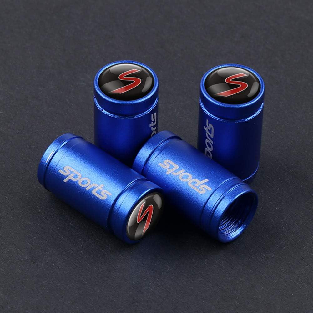 ASDNN 4 Pezzi Metallo Sport Emblema Auto Pneumatici Valvole Tappi Arredamento Pneumatici per Mini Cooper R50 R52 R53 R56 R57 R58 R60