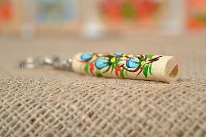 Llavero de madera hecho a mano flauta funda Petrikivka ...