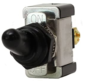 Fastronix SPST ON-OFF Heavy Duty 20 Amp AC/DC Toggle Switch with Weatherproof Neoprene Boot