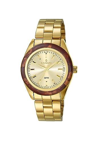 Radiant Reloj Analógico para Mujer de Cuarzo con Correa en Acero Inoxidable RA196203: Amazon.es: Relojes