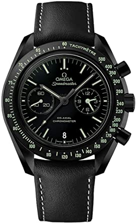 Omega Speedmaster Moonwatch Pitch Black Ceramic on Leather Strap Ref  311.92.44.51.01.004 83fcb857aa