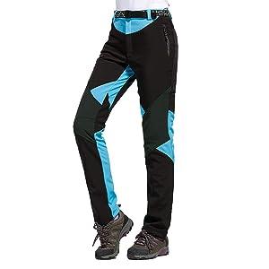 Nauwet Pantalones de senderismo convertibles de secado r/ápido para mujer