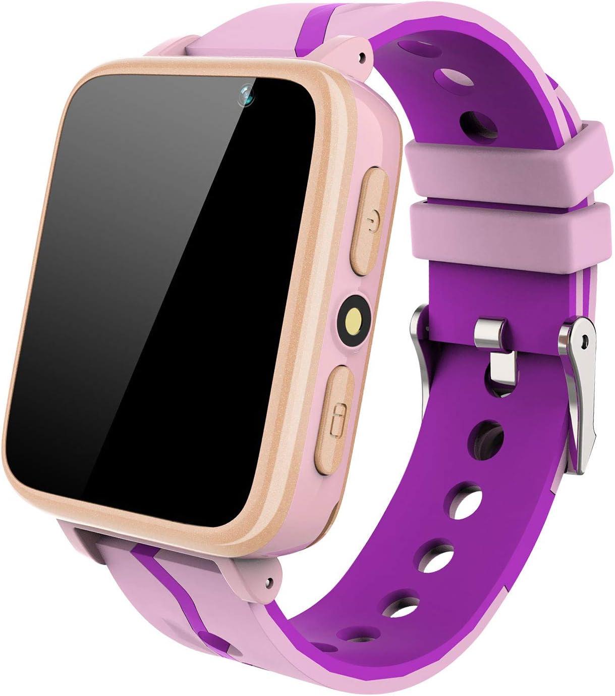 MeritSoar Tech Smartwatch Niños - Pantalla Táctil HD Reloj Deportivo Inteligente Teléfono con Reproductor de Música Llamada Chat de Voz Cámara SOS Alarma para Niños Estudiantes de 4 a 12 Años