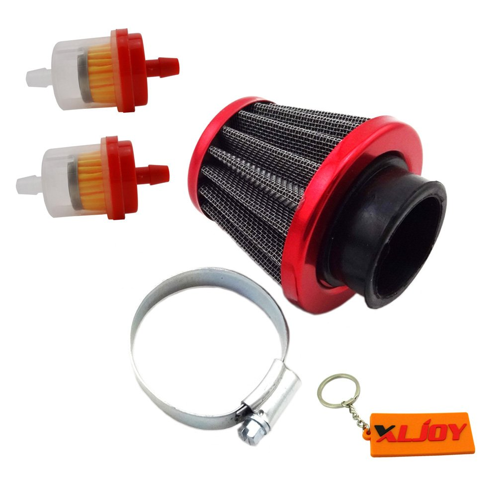 XLJOY 38mm Performance Air Filter + Fuel Filter For 50cc 90cc 110cc 125cc Pit Dirt Bike ATV GY6 Moped Scooter