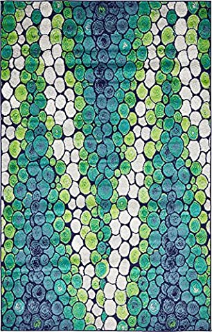 A2Z Rug Modern Light Green 5' x 8' FT Fancy Collection Contemporary Area rug, Perfect For Home Floor Décor - Living Room Rugs, Dinning and Bedroom (Blue And Green Bedroom Rugs)
