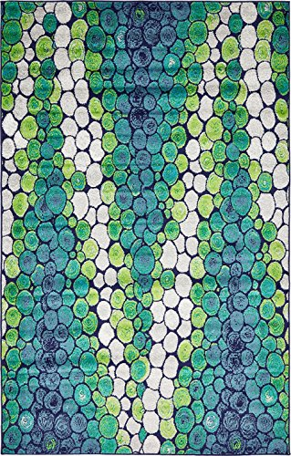 A2Z Rug Modern Light Green 5' x 8' FT Fancy Collection Contemporary Area rug, Perfect For Home Floor Décor - Living Room Rugs, Dinning and Bedroom Carpet (Contemporary Green)