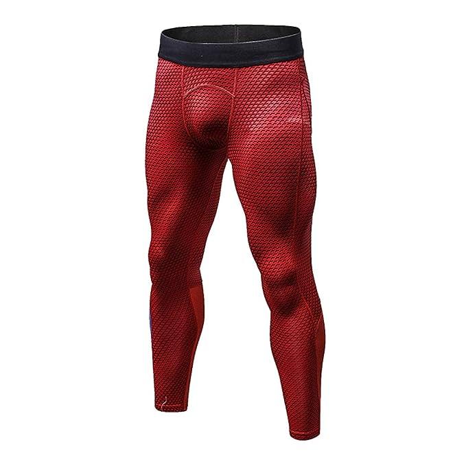 WanYangg Compression Leggings Hombre Deportiva Secado Rapido Pantalones  Compresión Running Apretadas Tights Larga Base Mallas Compresivas Correr  Fitness ... 069757ba0263